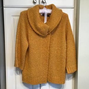 Evan-Picone Mustard Boucle Knit Sweater
